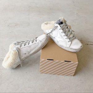 ▪️Golden Goose▪️Sabot superstar shearling sneakers